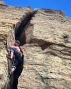 Rock Climbing Photo: Chimney fun at Mentmore