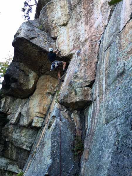I had trouble figuring out the tough crux@SEMICOLON@ one hang - outstanding pitch!