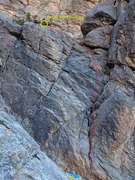 Rock Climbing Photo: Pitch one's route. Start is right across from ...