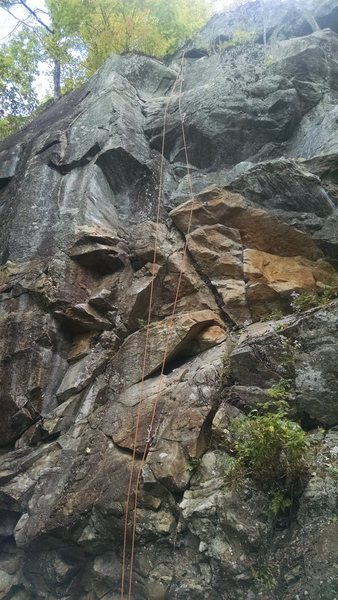 Rock Climbing Photo: I thought this was a good flic of the climb. I pre...