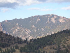 Rock Climbing Photo: The granite 'teeth' just southeast from th...
