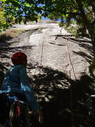 Rock Climbing Photo: About to TR the START of Green Mile Direct and its...