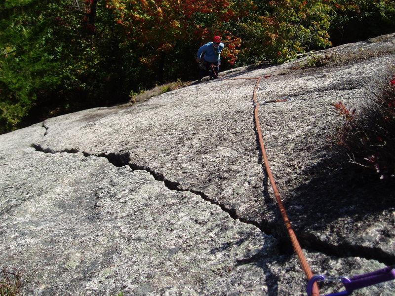 Rock Climbing Photo: RW follows the (3rd???) ascent. Sea of Green's...