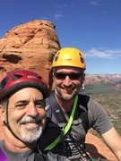 Rock Climbing Photo: Friends in high places on top of Queen Vic