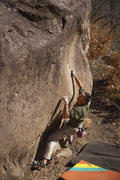 Luke on Electric Spines boulder. V3/4?