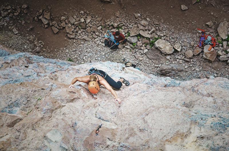 Audra Climbing