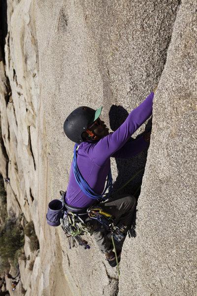 Rock Climbing Photo: Mario climbing