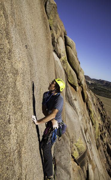 My buddy Will climbing