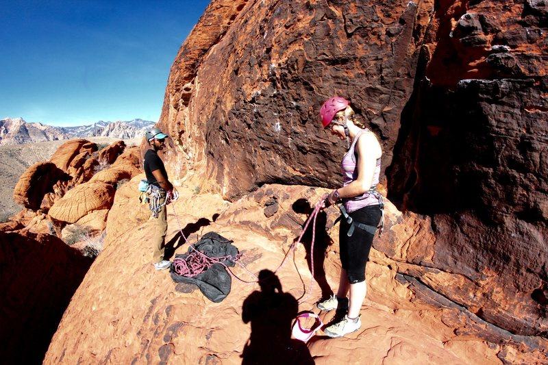 Rock Climbing Photo: Red rocks climbing