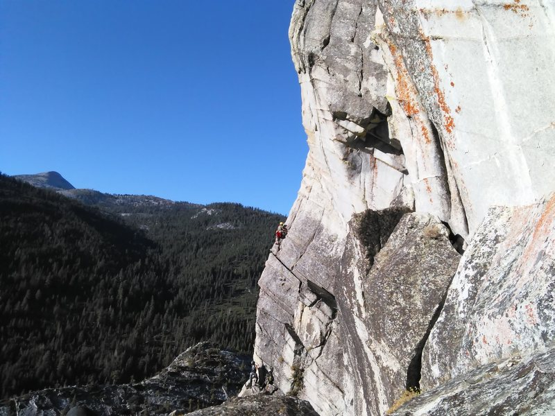 Rock Climbing Photo: From the second pitch of the North Face.