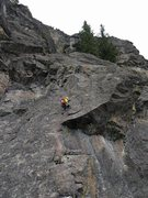 Rock Climbing Photo: View of Pitch 5. The photo has been taken from the...