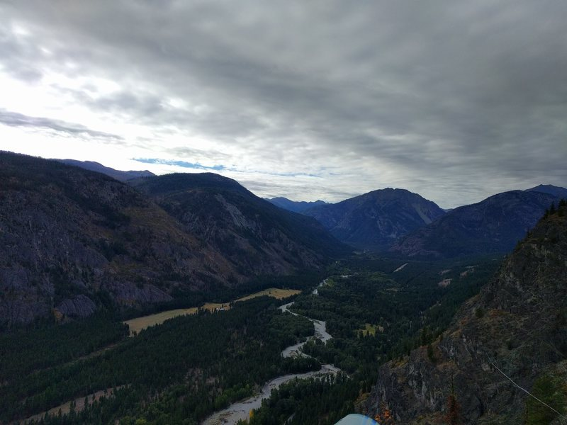 View of the Methow River Valley below.
