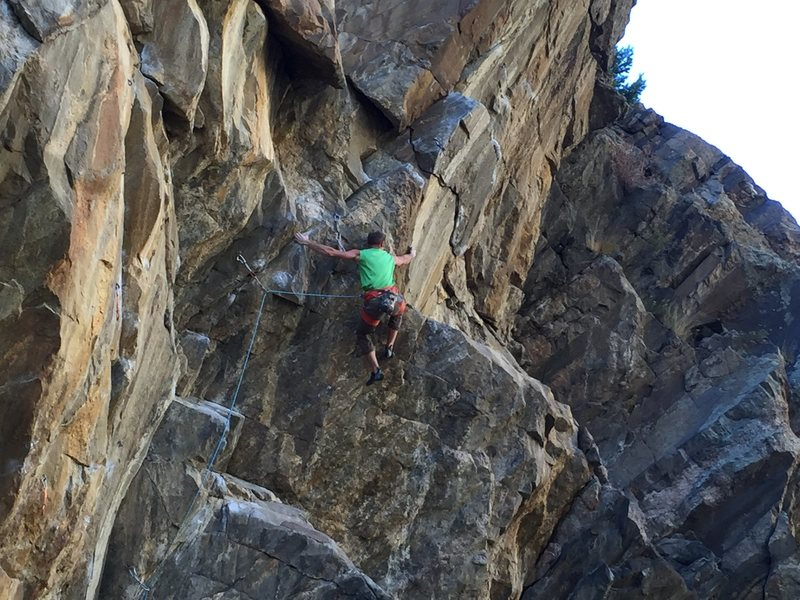 Rock Climbing Photo: Big, burly bump... my favorite move on the route!