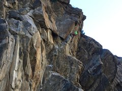 Rock Climbing Photo: Mid-crux.. sweet boulder problem.