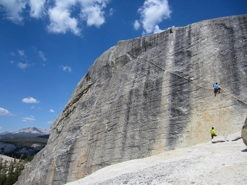 Rock Climbing Photo: Climbers on Knobnoxious (Top) and Konvicts do Koal...