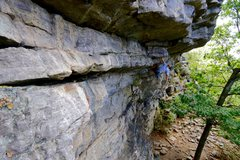 Rock Climbing Photo: Faint's roof, Annapolis Rocks, MD