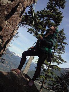 Rock Climbing Photo: Me belaying at a crag along the I90.