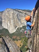 Rock Climbing Photo: Some dude named Pat on the last pitch. Taken while...