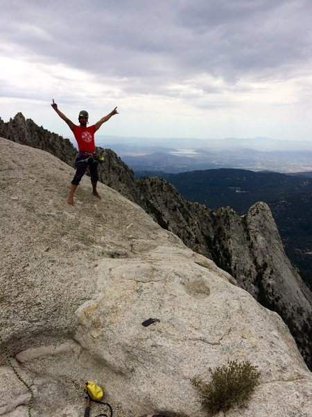 Rock Climbing Photo: On the summit of Pillar of Destiny after the FA of...