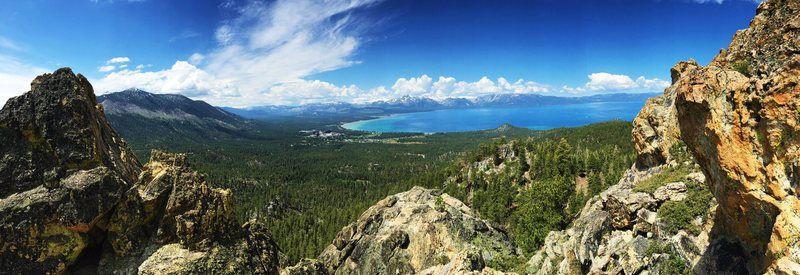 Rock Climbing Photo: Panoramic shot from the vista point. This vista an...