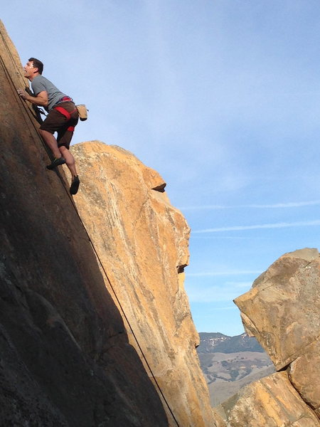 Rock Climbing Photo: High Noon 5.10b  Bishop Peak