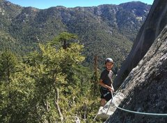 Rock Climbing Photo: On pitch 2 of Tabby Tree on 9/24/16