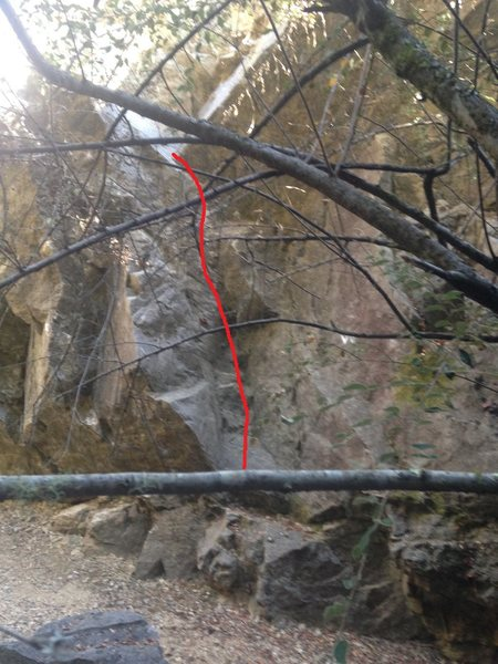 Rock Climbing Photo: A pretty ladder. A nice warm-up but PG-13 fall as ...