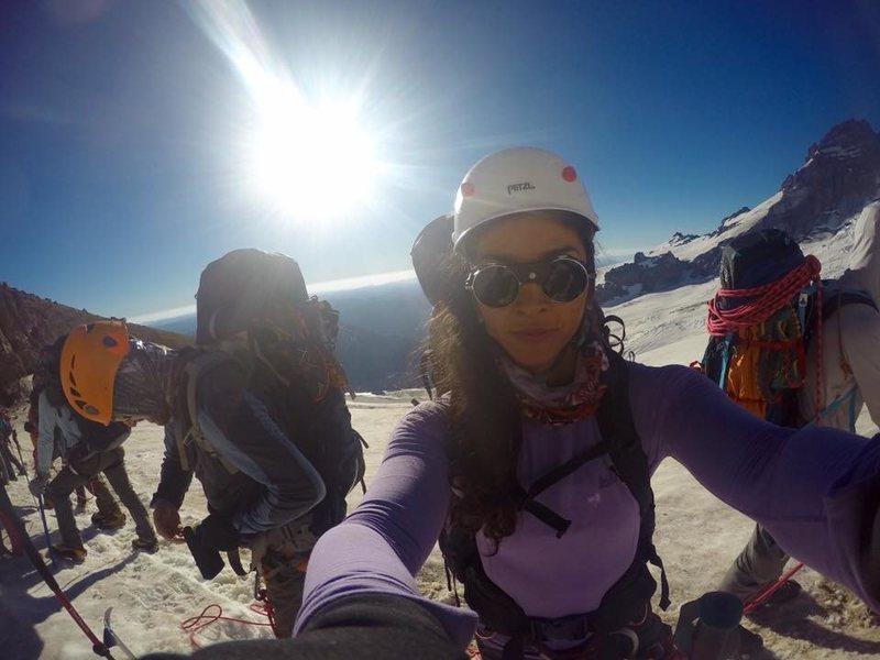 Rock Climbing Photo: climbing Mt. Rainier via Kautz Glacier