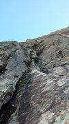 Rock Climbing Photo: the shallow stem corner on p4