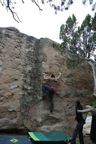 Rock Climbing Photo: SaJeeD techs through the Dirt and Grime.
