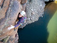 Rock Climbing Photo: Chris Murray with Hairy Sherry belaying