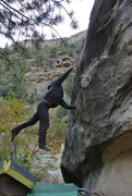 Rock Climbing Photo: Fire in the Hole!  SaJeeD skips the BS and launche...