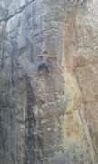 Rock Climbing Photo: bri in the meat and potatoes, excellent stone on t...