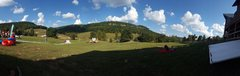 Rock Climbing Photo: Panorama of the Ranch sitting behind the lodge