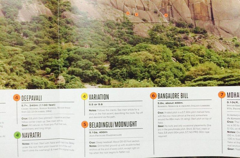 Savandurga topo, courtesy The Outdoor Journal