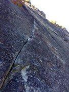 Rock Climbing Photo: Tips crux.