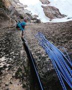 Rock Climbing Photo: Splitter #4s!