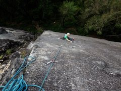 Rock Climbing Photo: Yuval on the amazing and techy pitch 2