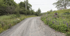 Rock Climbing Photo: Road to parking area and trail head behind the UC ...