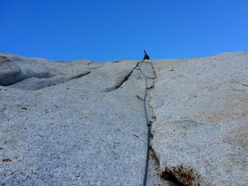 Rock Climbing Photo: Nearing the top of the 4th pitch.