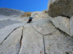 Rock Climbing Photo: 7th pitch splitter and boulder problem. So fun!