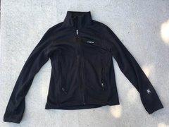 Black R1 full zip fleece