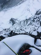 Rock Climbing Photo: Looking down the Northwest Face to Forbidden Glaci...