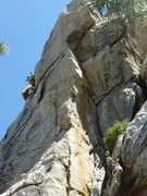 Rock Climbing Photo: Investigating the super intimidating upper section...