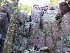 Rock Climbing Photo: Climb left or right of the rope for a 5.2 climb. O...