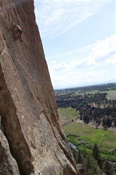 Rock Climbing Photo: high up, hot day