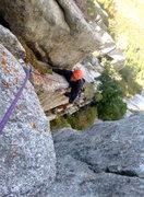 """Rock Climbing Photo: """"puke"""" pitch"""