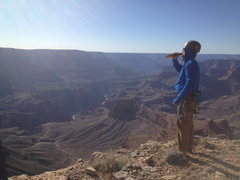 Top of Screaming Sky cracks, in the Grand Canyon!