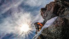 Rock Climbing Photo: Getting that vert!