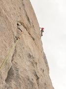 Rock Climbing Photo: dog leg being led by peter